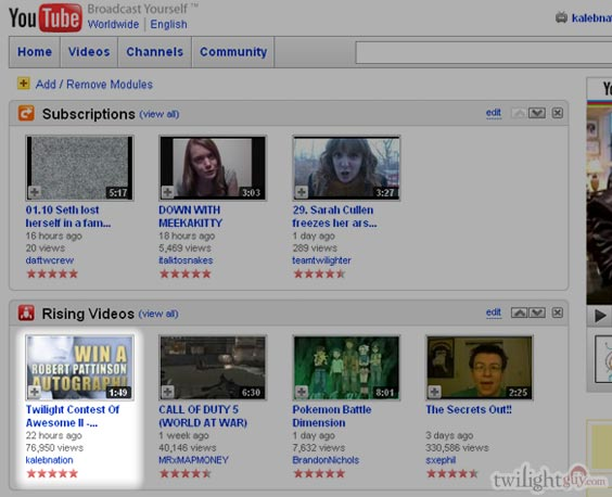 Who's that on mah Youtubes?