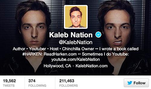 Kaleb Nation Twitter Page