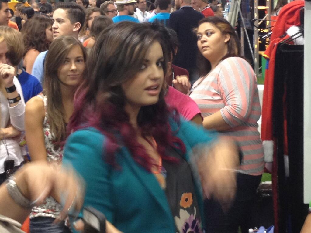 rebecca black at vidcon lol