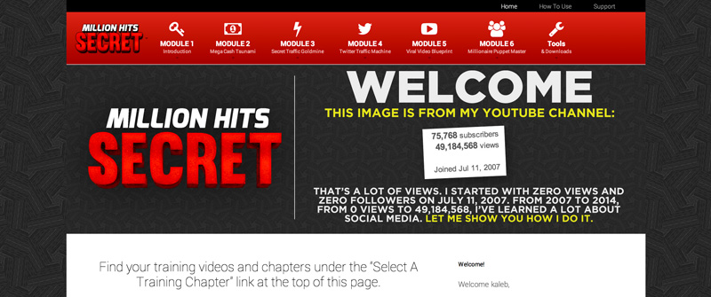 Million Hits Secret by Kaleb Nation REVIEW